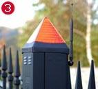 lampa ostrzegawcza bramy ogrodzeniowej przesuwnej